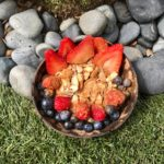 BERRY TALE ENDING Sliced Strawberries, Blueberries, Raspberries, Almonds, Brown Sugar, Cinnamon