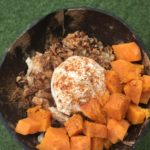 THANKSGIVING 365 Diced Sweet Potatoes, Pecans, Greek Yogurt or Vegan Coconut Yogurt, Brown Sugar, Cinnamon